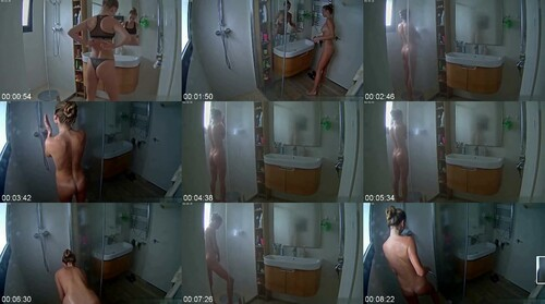 0734 Spy Nice Body Blonde Girl Taking A Shower And Shaving Pussy m - Nice Body Blonde Girl Taking A Shower And Shaving Pussy / SpyCam Sex Video
