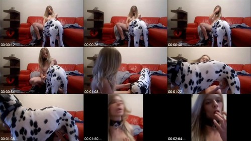 0597 DgSx Super Hot Girl Gets Licked By Dalmatian m - Super Hot Girl Gets Licked By Dalmatian / DogSex Video