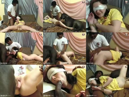 0659 HmZ Man And Dog Raped By Housewife m - Man And Dog Raped By Housewife / Amateur ZooSex