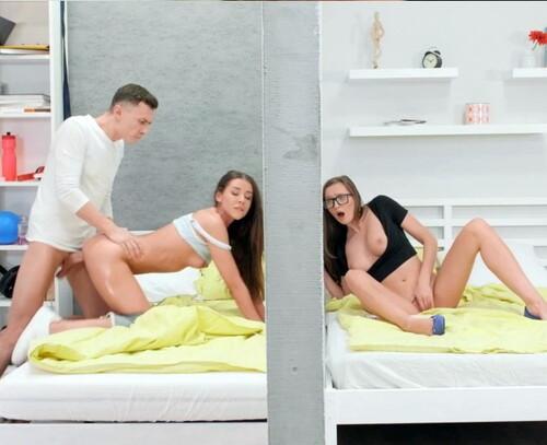 Stacy Cruz & Sybil - Threesome Through The Wall