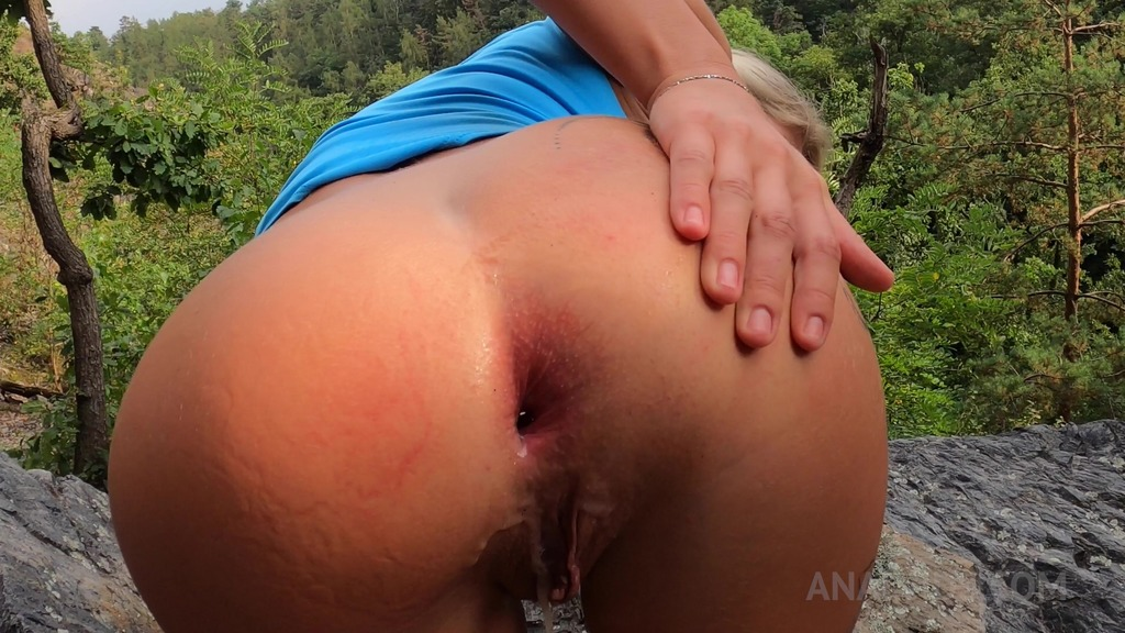LegalPorno - Claudia's clips - Claudia Mac gets her ass fucked and creampied in the outdoors CM057