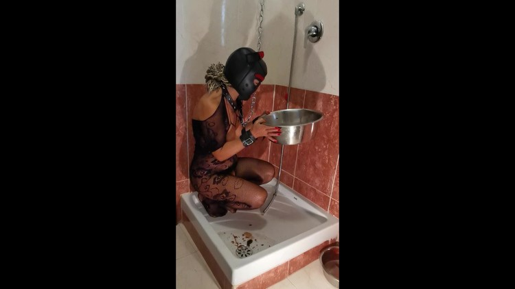 GoddessAndreea - Kinky couple slave girl training -enema ingestion