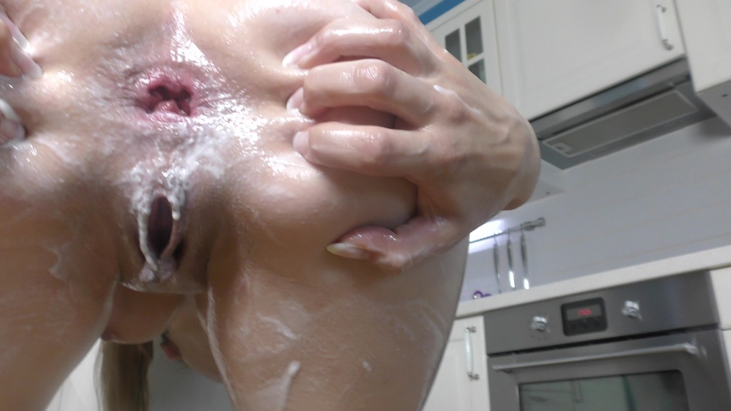 LegalPorno - Timea Bellsa Productions - Timea Bella fills her ass with whipped cream, masturbation with huge toys, oil TB025