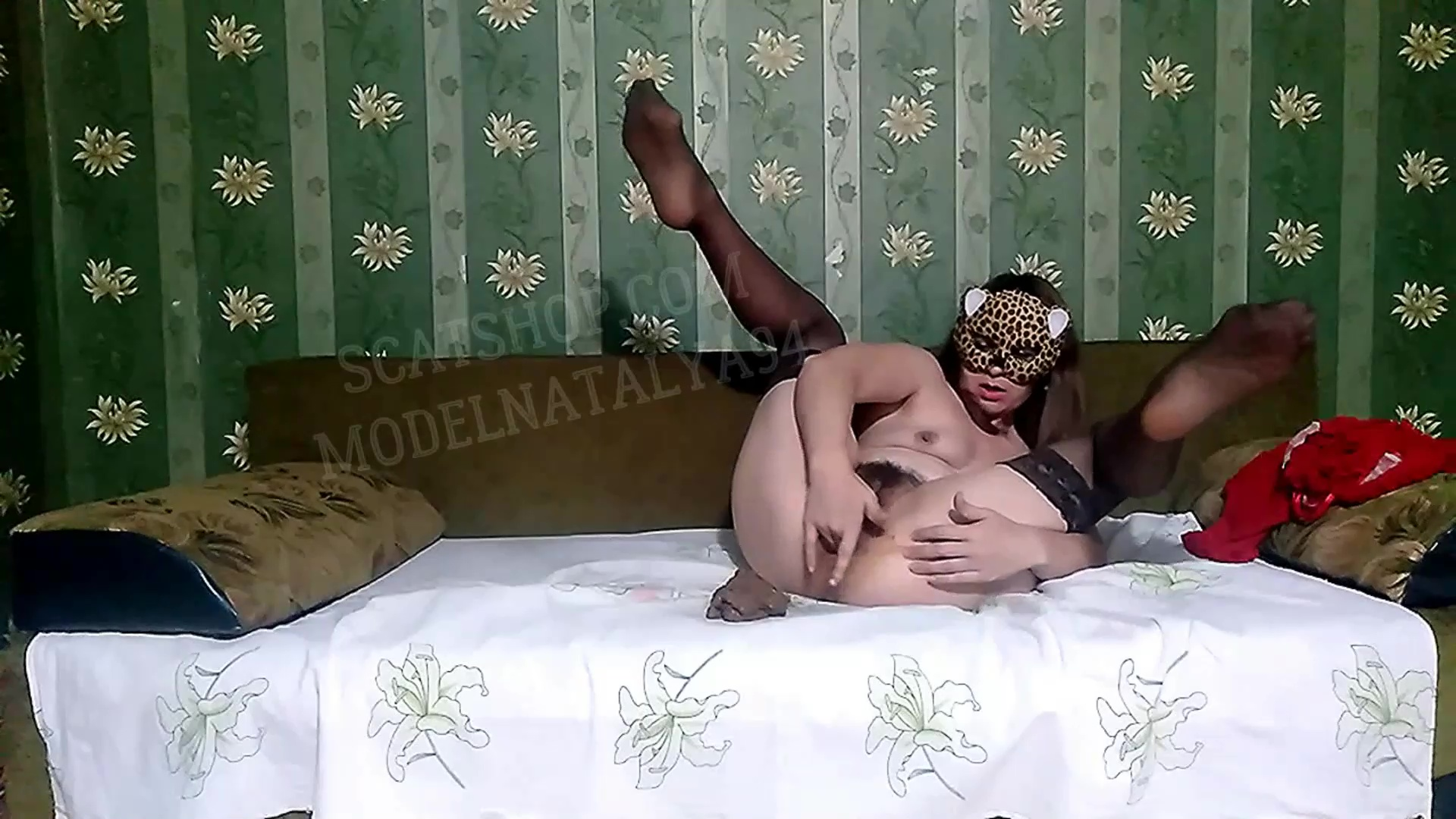 ModelNatalya94 - Olga fucks and masturbates on the bed