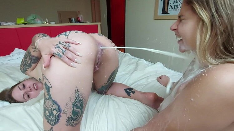 SG-Video - Enema Swallow Extreme And Sealed Mouth By Top Tattoo Dominatrix And Our Sweet Slave