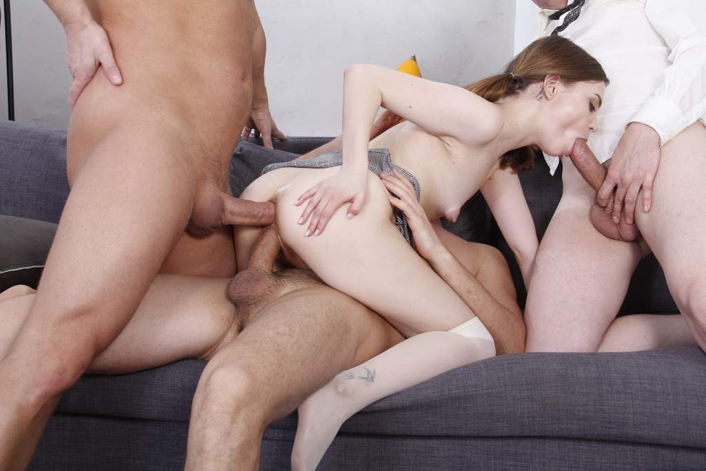 LegalPorno - Anal Studio by Valter Karo - Teen Bella Grey Double Penetration - Screaming Hard Fucking in The Ass - Anal Squirt VK034