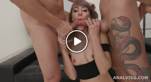 My First BurttRose, Vicky Sol 4on1 Balls Deep Anal, DAP, Gapes, Manhandle, Creampie and Swallow GIO1713 1080p