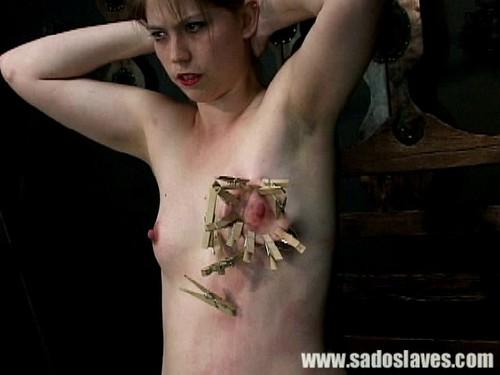 Clothespins, handcuffs. Hard Torture.