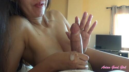 AsianGoodGirl - Slow edging handjob with unreal cum explosion