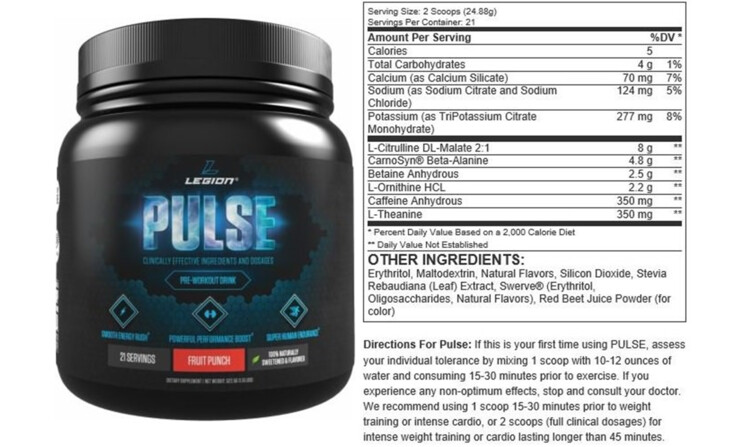 Legion Pulse Pre-Workout